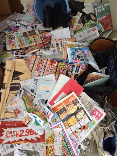 札幌市北区 孤独死現場 玄関 チラシ