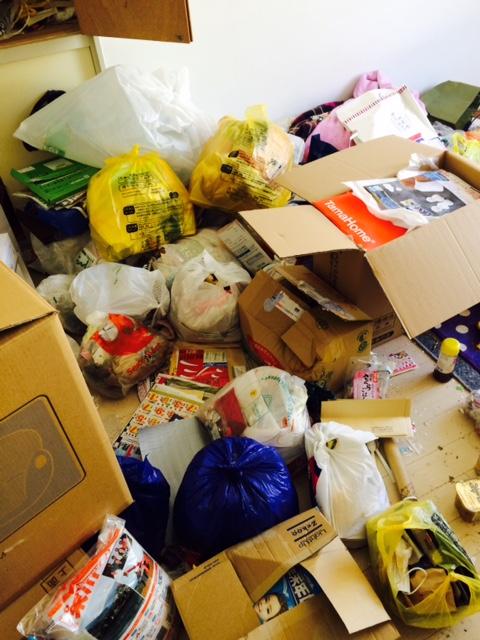 札幌市東区 汚部屋 掃除前 ごみ山