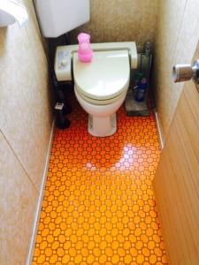血の掃除 トイレ作業後