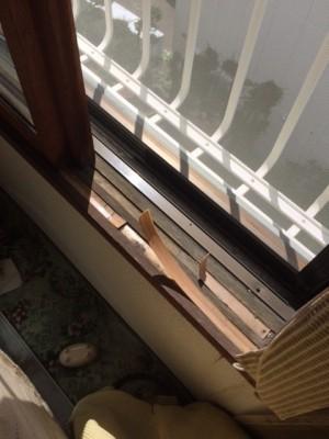 窓シール補修前
