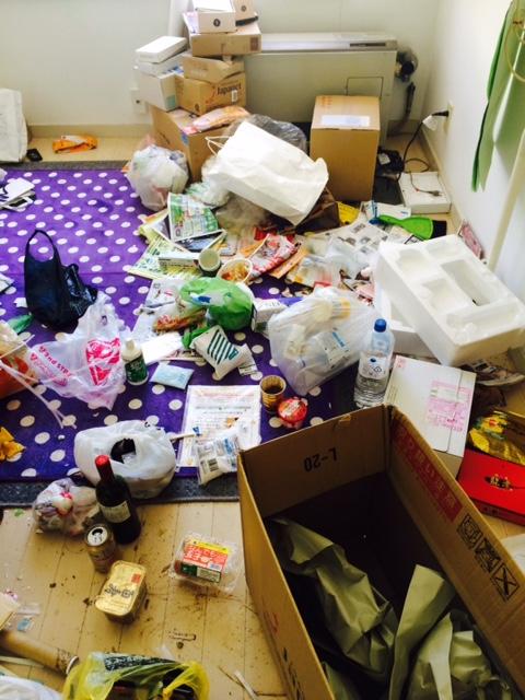 札幌市東区 汚部屋 掃除前 ゴミ山 一部