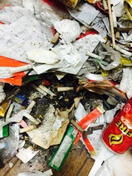 ゴミ屋敷 タバコ吸殻 火災