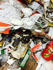 ゴミ屋敷 タバコの吸い殻