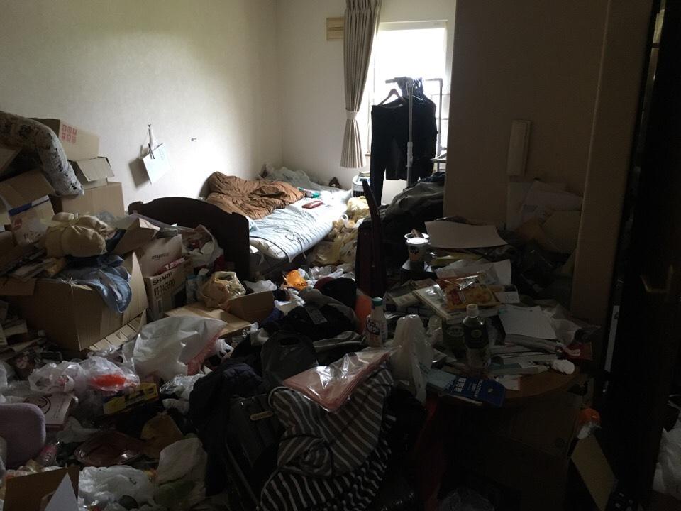 ゴミ部屋状態のリビング