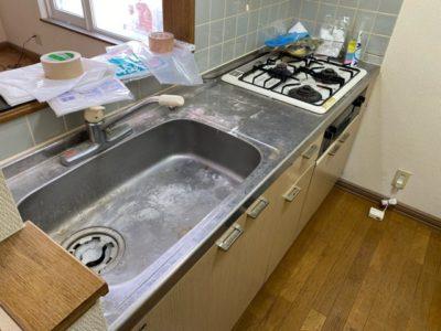 キッチン清掃前