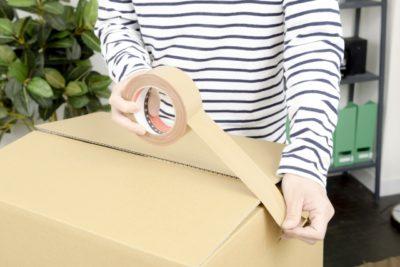 引っ越しの為の荷造り