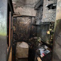 札幌市 火災が起きた室内