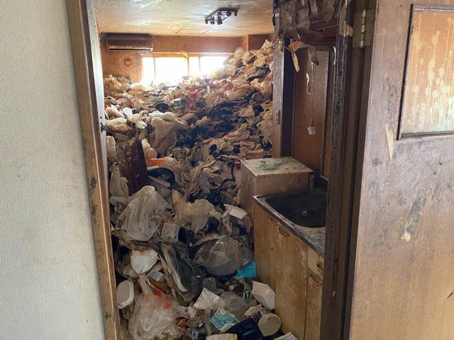 作業前 天井ほどのゴミ