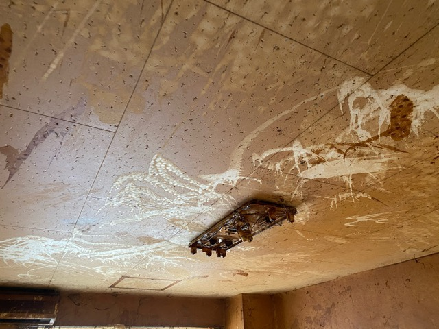 天井の液体痕