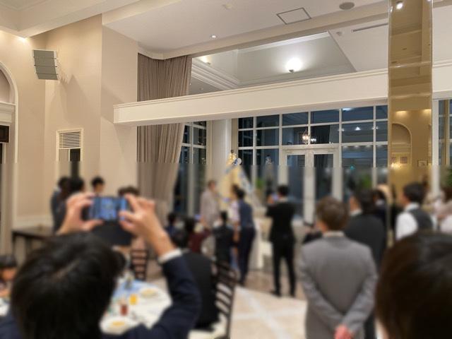 友人の結婚式風景