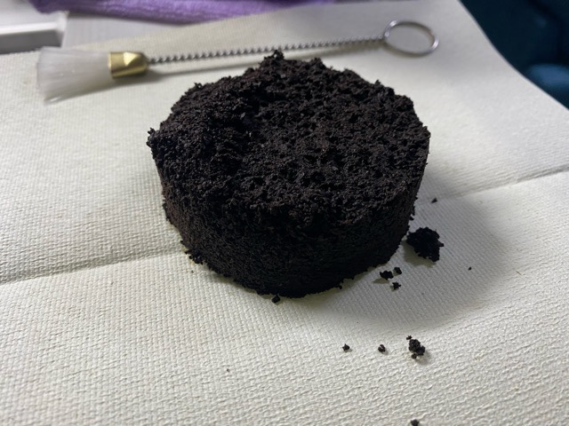 マキネッタで抽出後のコーヒー粉