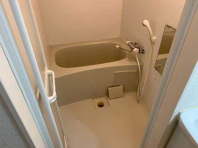 清掃後の浴室 鹿追町