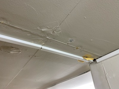 水が垂れてきた事務所の天井部分