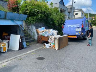 廃棄品の回収風景 札幌市