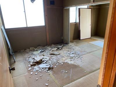 2F 天井が崩落した部屋 お片付け後