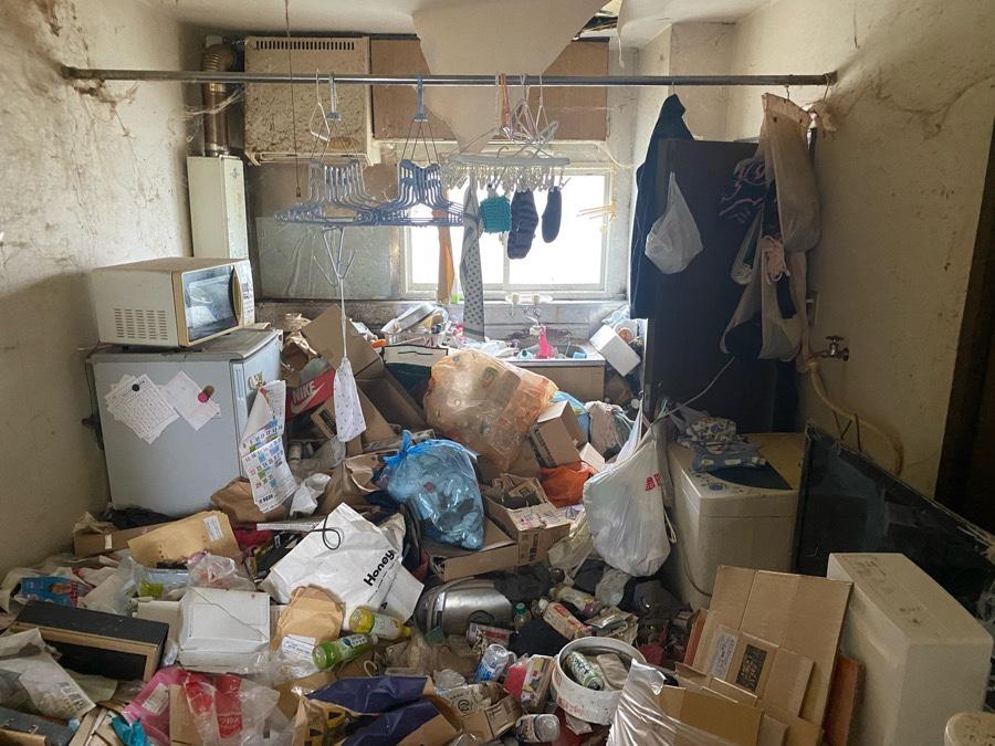 3年放置のゴミ部屋 お片付け前①